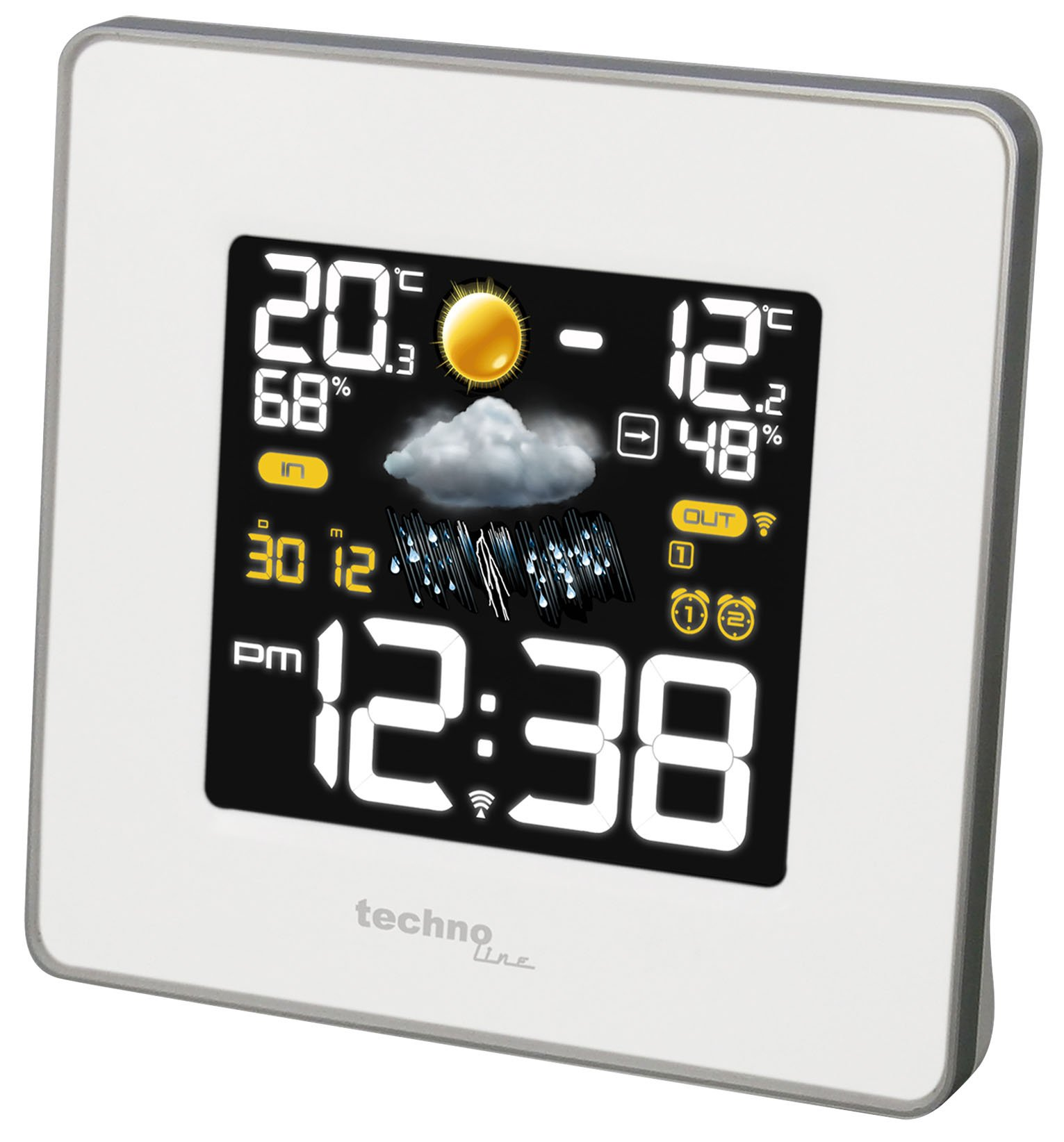 Technoline Ws8117 Wetterstation Funkwetterstation: Technoline Premium LED-Wetterstation WS 6440