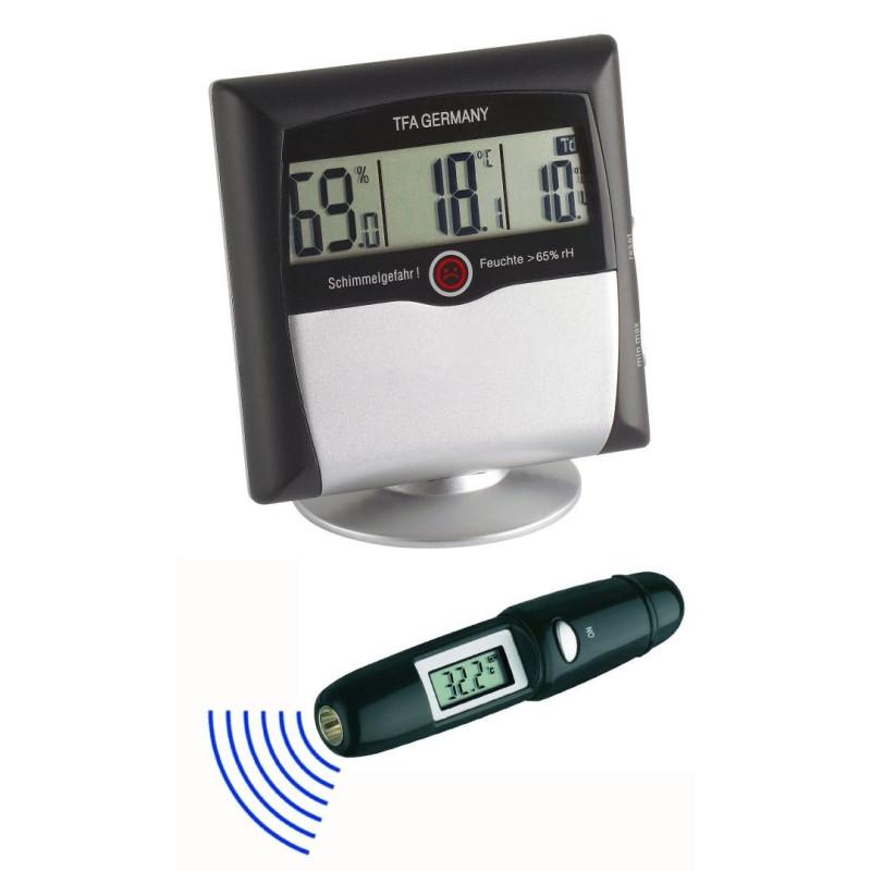 TFA Dostmann Digital Thermo/Hygrometer Infrarotthermometer Klima Control Set