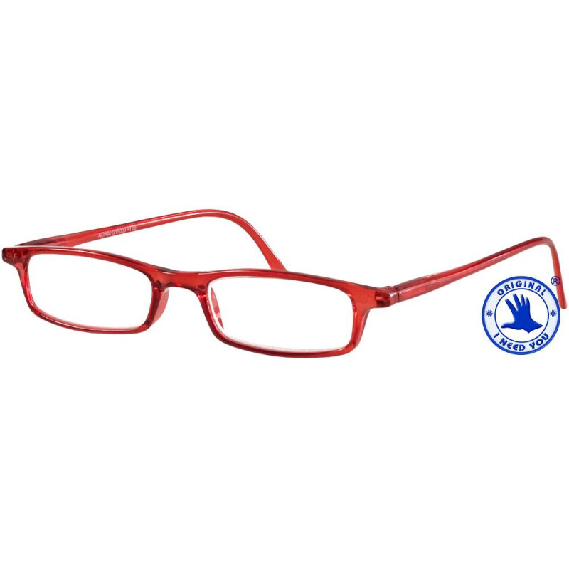 I NEED YOU Lesebrille ADAM in rot, Stärke +2,50 dpt