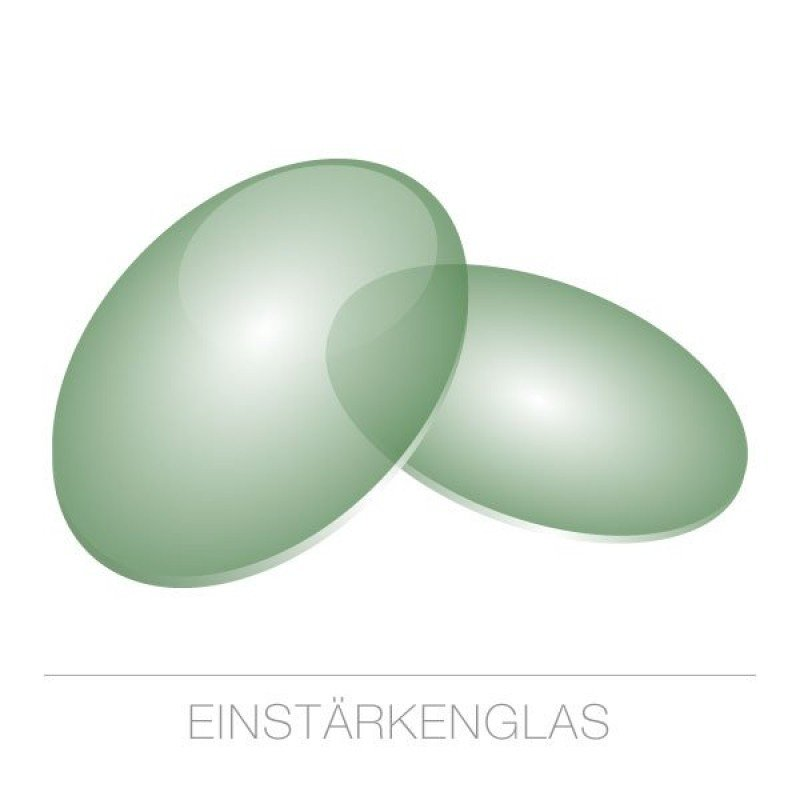 Einstärkengläser Kunststoff-1,5-grün 75%-HARD Rück-SET