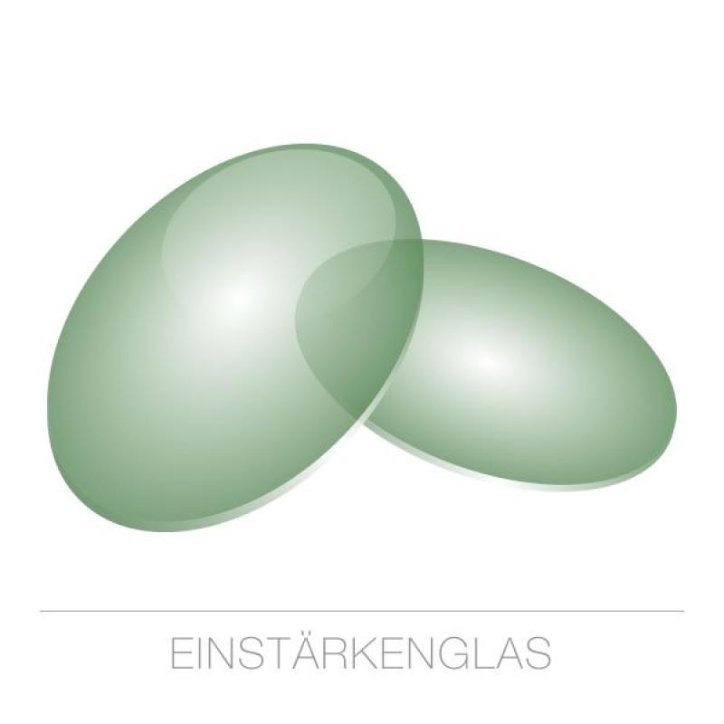 Einstärkengläser Kunststoff-1,6-grün 75%-HARD Rück-SET