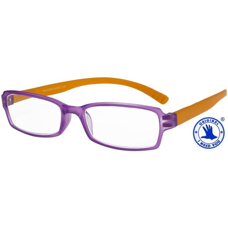 Hangover in lila-orange, Stärke +1,00 Dioptrien seitenansicht