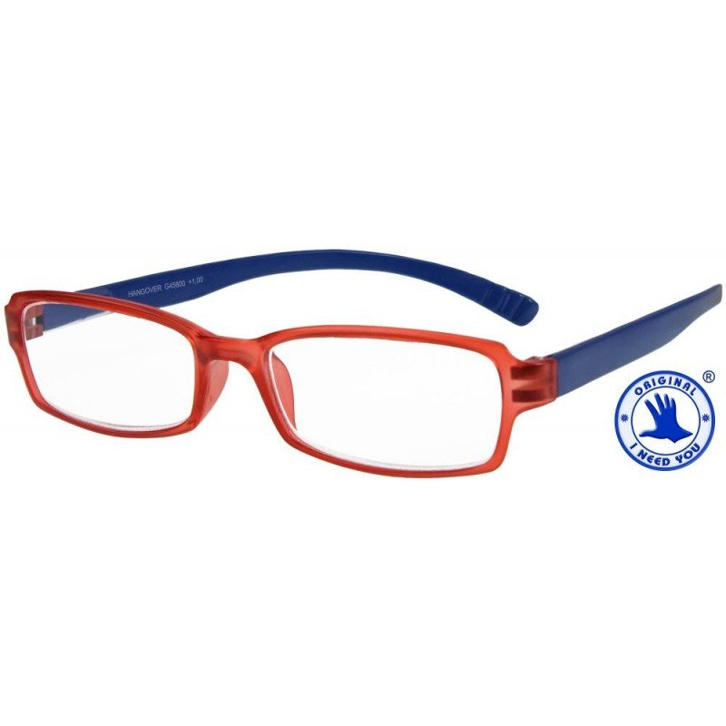 Hangover in rot-blau, Stärke +1,50 Dioptrien seitenansicht
