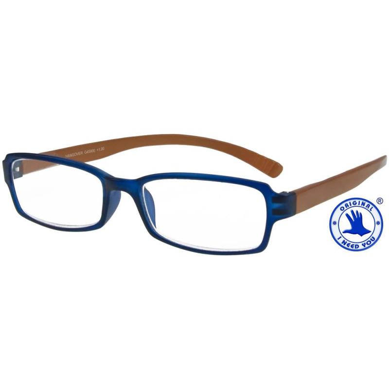 Hangover in blau-braun, Stärke +3,00 Dioptrien seitenansicht