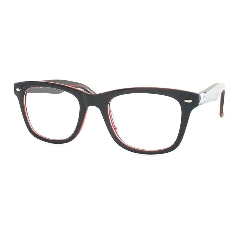 Premium Lesebrille / Fertiggleitsichtbrille Eva-schwarz-rot-+ 2,00