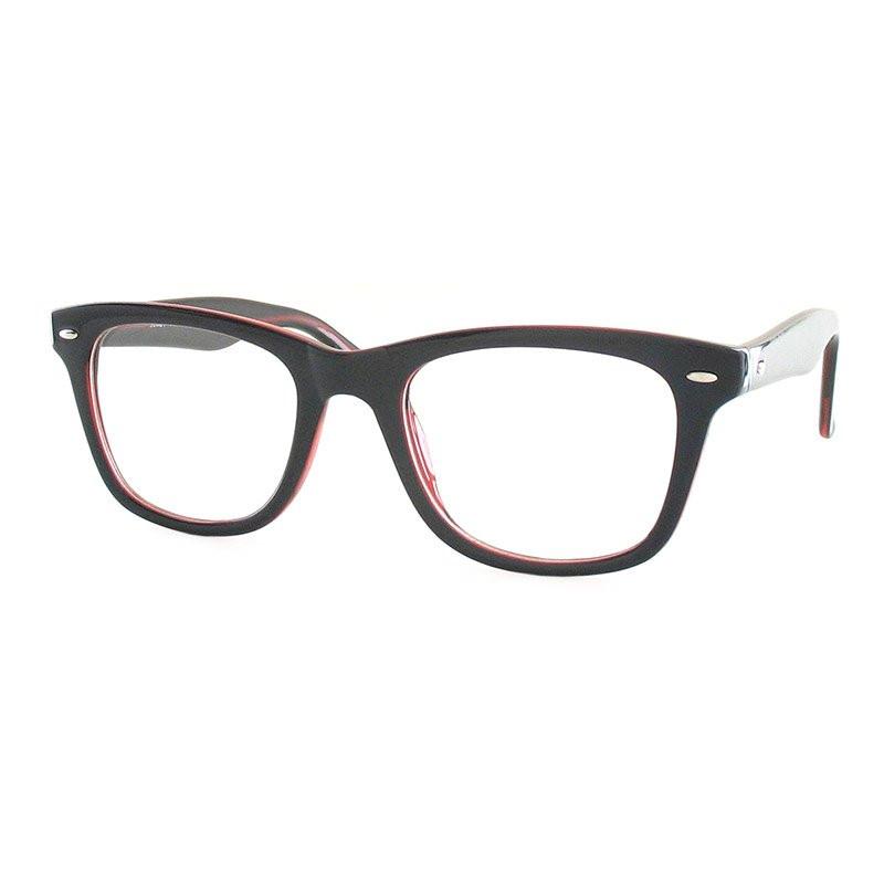 Premium Lesebrille / Fertiggleitsichtbrille Eva-schwarz-rot-+ 3,00