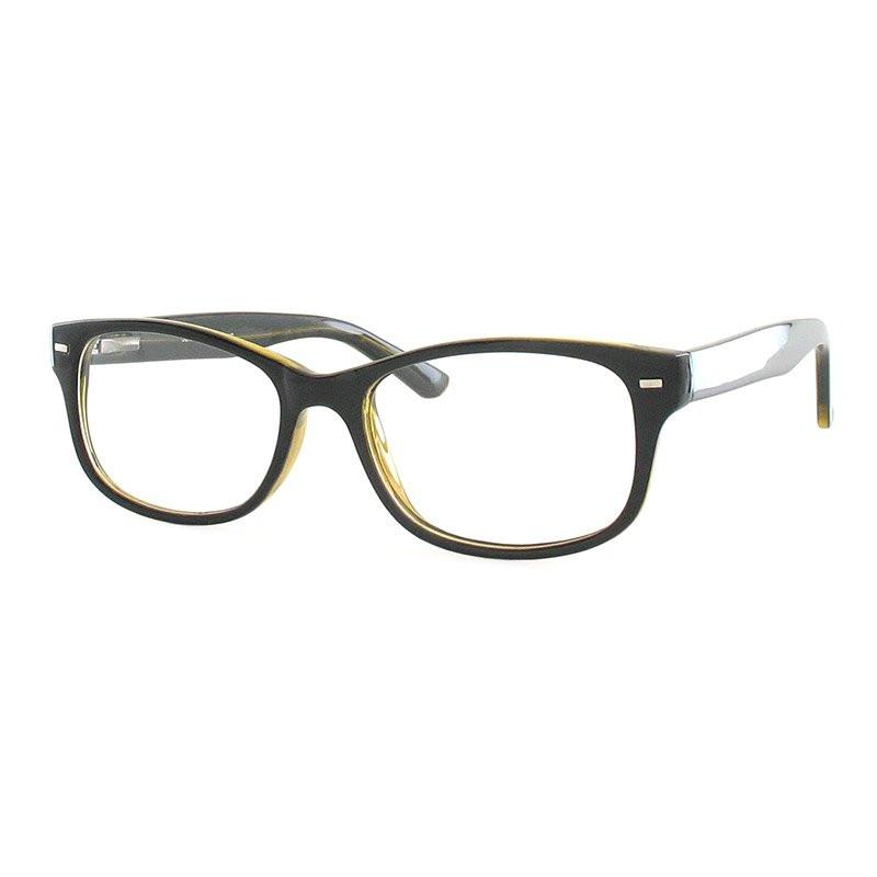 Fertiggleitsichtbrille Luturna schwarz-gelb +2,5