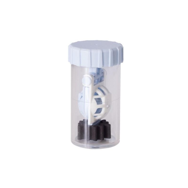 Kontaktlinsenbehälter für Peroxid-Systeme mit PLATINUM DISK antimikrobiell 4 Stück-Weiß