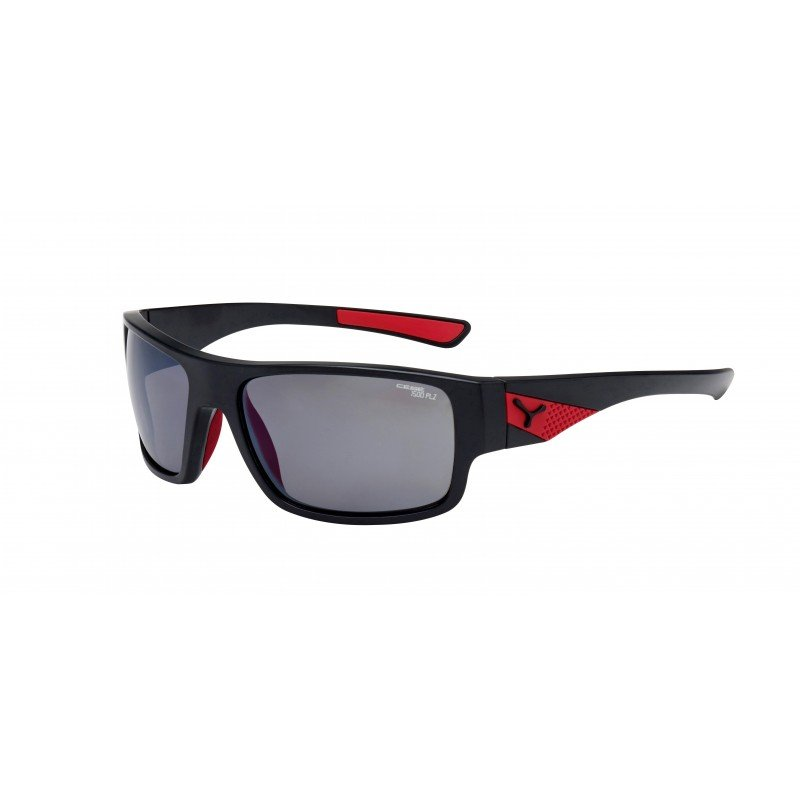 Whisper-matte black/red -grey Polarized