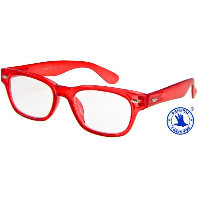 Woody limited in rot, Stärke +1,00 Dioptrien seitenansicht