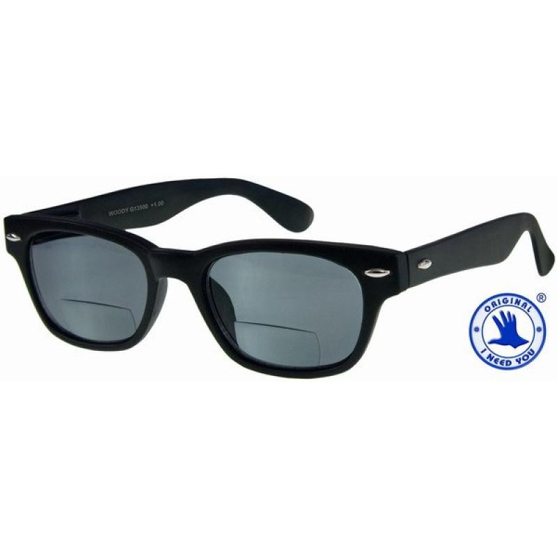 Woody Sun Bifo in schwarz, Stärke +2,50 Dioptrien