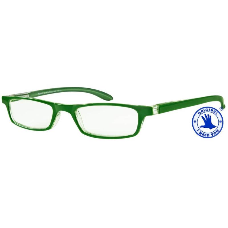 ZIPPER LIMITED in grün, Stärke +1,00 dpt seitenansicht