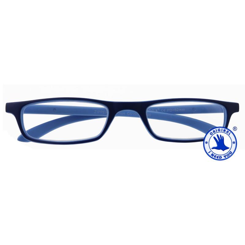 Zipper Selection in 4 verschiedenen Farben, Stärke von +1,00 - 3,00 Dioptrien-blau-blau-+ 1,00