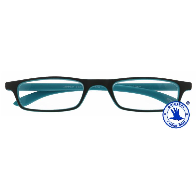 Zipper Selection in 4 verschiedenen Farben, Stärke von +1,00 - 3,00 Dioptrien-grau-türkis-+ 2,50