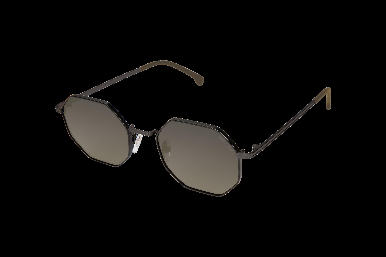 Komono Alleen S1414 Glossy Black Sonnenbrille Unisexbrille Mkjwb